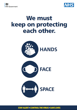 Preview of A4 poster - Hands Face Space - we must keep on protecting each other
