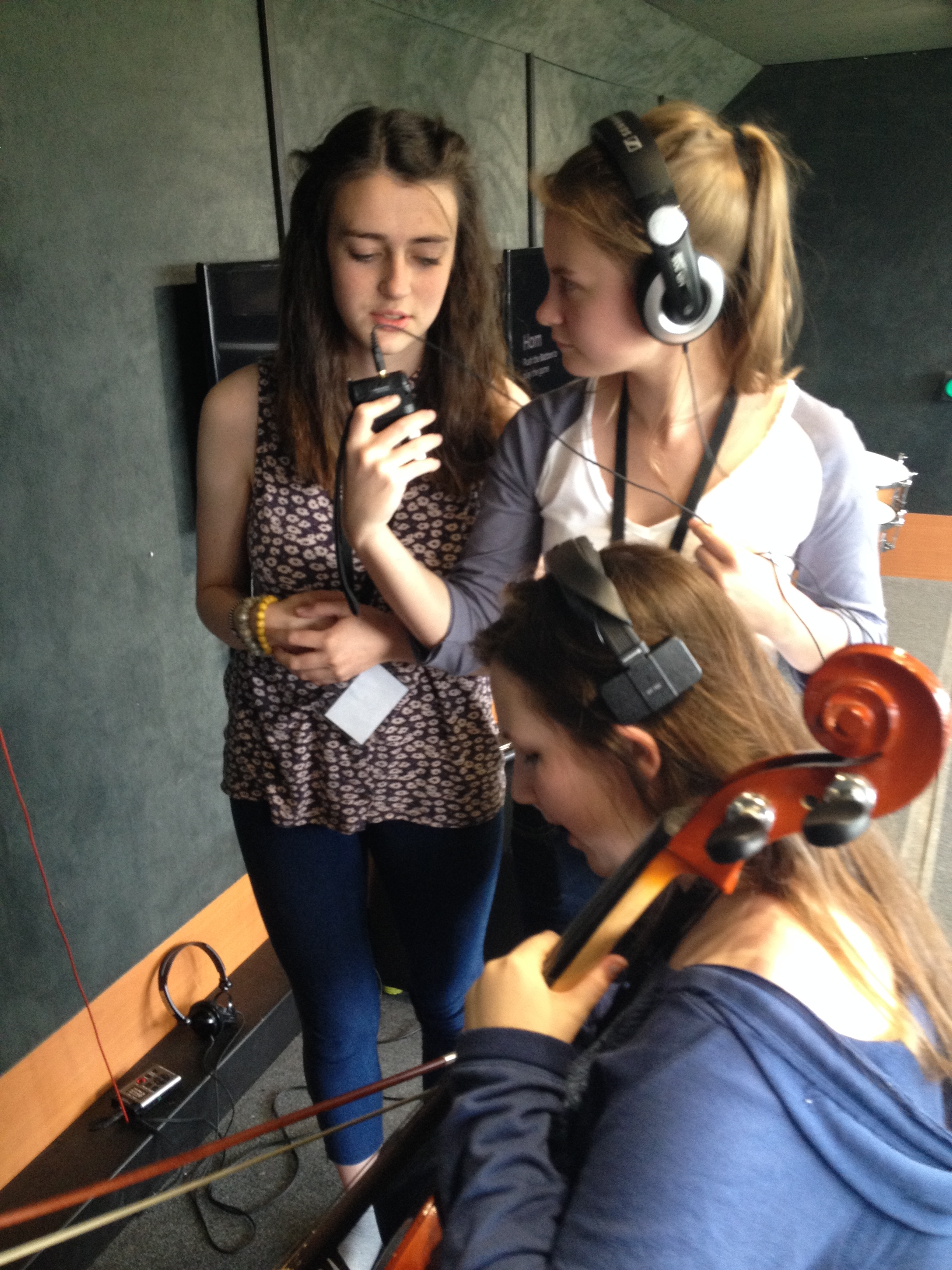 Holly Fitzpatrick, chloe Chapman and Phoebe Presneill from Parkfield Xtreme Radio