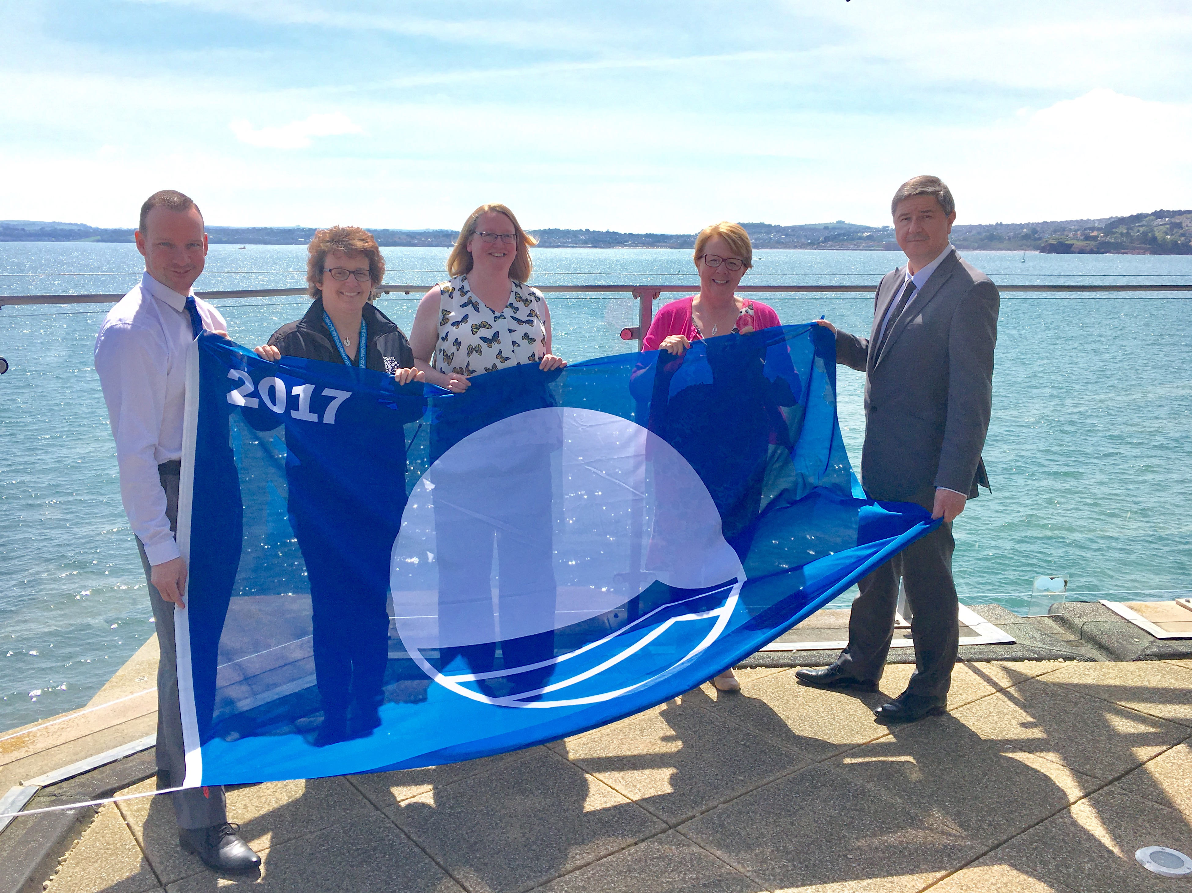 Left to right: Simon Wallace, Operations Manager for Beaches & Coastline, Torbay Council; Claire Rugg, Operations Manager, Living Coasts; Pippa Craddock, Director of Marketing & Development for Living Coasts; Kevin Mowat, Executive Head of Business Services, Torbay Council